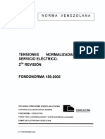 159 2005 Tensiones Normalizadas Del Servicio Electrico