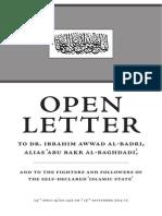 Letter to Al Baghdadi Booklet