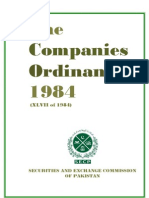 Companies Ordinance 1984