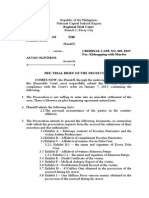 Pre-Trial Brief (Prosecution)