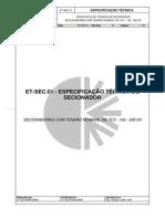ET-SEC.01 - Especificação - Secionador (Rev.04)