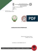 Clasificacions de Caudales de Aguas Residuales