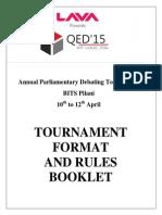 Q.E.D 2015 Rules Booklet April