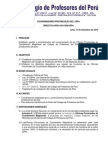 Directiva N° 001-2014-DN/CPPe