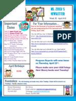 week 31 newsletter