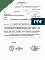 Agradecimiento de Director I.E José Antonio Encinas