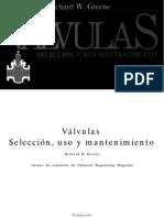 Valvulas, Selección, Uso y Mantenimientot