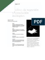 Capítulo 13 Análisis de Regresión y Correlación Múltiples
