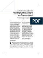 Los Estudios Sobre Migración en Chile