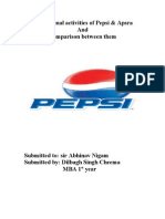 Parmotional Activities of Pepsi & Apsra And