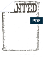 blank wanted sign