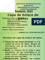 Modelo OSI Capa 2 Enlace Datos