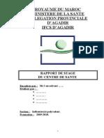 Rapport de Stage Ministère de Santé