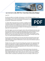 An Overview of the 2015 New York State Education Budget