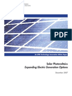 Solar Photovoltaics -Expanding Electric Generation Options
