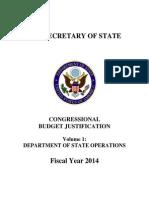 STATE Dept. Congress.budget Justification FY 2014