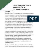 Las Constituciones de Otros Países Con Relación Al Derecho Al Medio Ambiente Sano