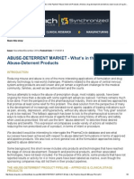Abuse Deterrent Market