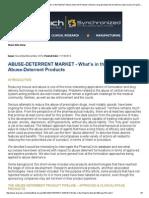 Abuse Deterrent Market
