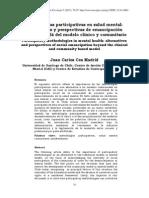 metodologias participativas en salud mental