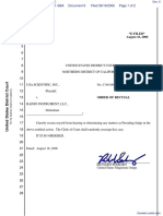 USA Scientific, Inc. v. Rainin Instrument, LLC - Document No. 6