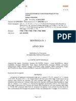 Corte Costituzionale, Sentenza 1/2014