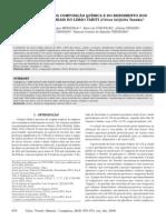Caracterização Da Composição Química e Do Rendimento Dos