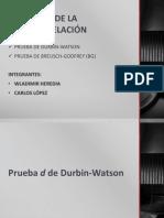 Prueba d de Durbin-Watson y Breusch - Pagan - Godfrey