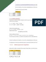 Cálculos Población Futura Método Aritmético y Logarítmico