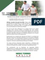 09-04-2015 'Policías en las colonias' compromiso de Nerio Torres Arcila
