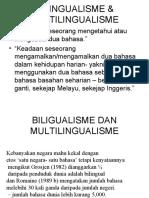 Bilingualisme & Multilingualisme