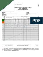 Planilla de Calificación 2014 VILLA ELVIRA