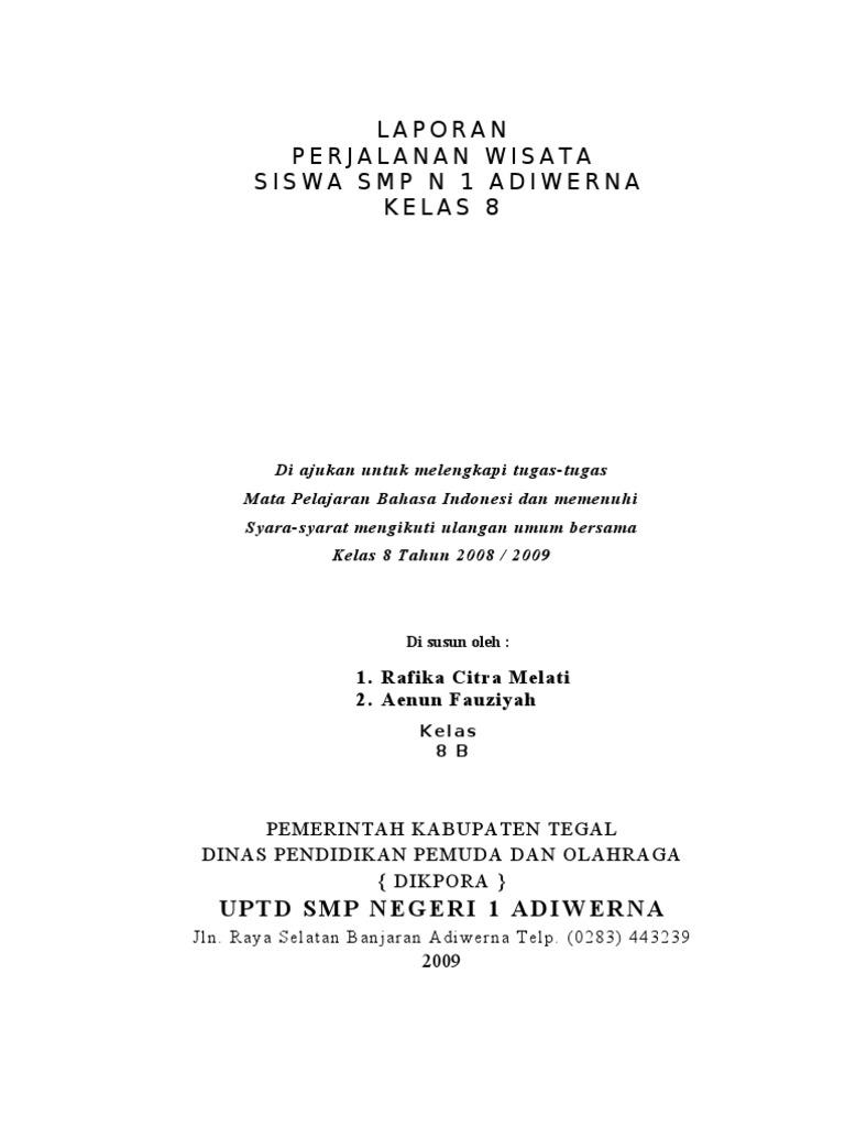 Karya Tulis Smp N 1 Adiwerna