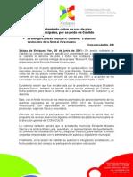 30-06-2011 Regularizará Ayuntamiento cobro de uso de piso  en mercados municipales, por acuerdo de Cabildo. C358