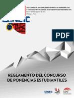 Reglamento Del CPE - XXIII CONEIC Chiclayo 2015