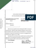 Hub International of California Insurance Services, Inc v. Kilzer et al - Document No. 3