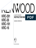 Kenwood KRC-291~26~191~16 INSTRUCTION MANUAL