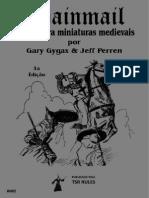 Chainmail - Regras Para Miniaturas Medievais (3a.ed., 8a.imp., 1979)