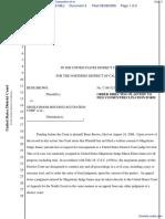 Brown v. Single Room Occupancy Housing Corporation et al - Document No. 4