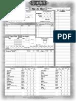 d 20 Raven Loft Character Sheets