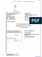 """The Apple iPod iTunes Anti-Trust Litigation"" - Document No. 77"