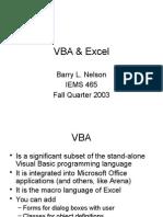 VBA & Excel