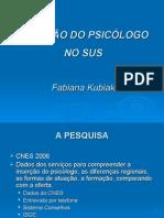 Atuação Psicólogo No SUS