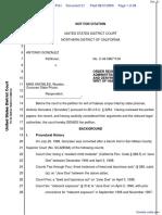 Gonzalez v. Knowles - Document No. 21