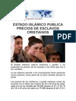 VENDEN CRISTIANOS EN EI Y CONTINUA PERSECUSION.pdf