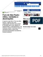 Foro de São Paulo_ Mitos, Verdades e Alucinações