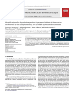 Identification of a degradation product in stressed tablets of olmesartan medoxomil by the complementary use of HPLC hyphenated techniques