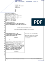 Video Software Dealers Association et al v. Schwarzenegger et al - Document No. 100