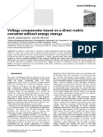 Voltage Compensator Based on a Direct Matrix Converter Without Energy Storage