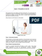 Principio 1 Perceptible en Nivel AA Unidad 2